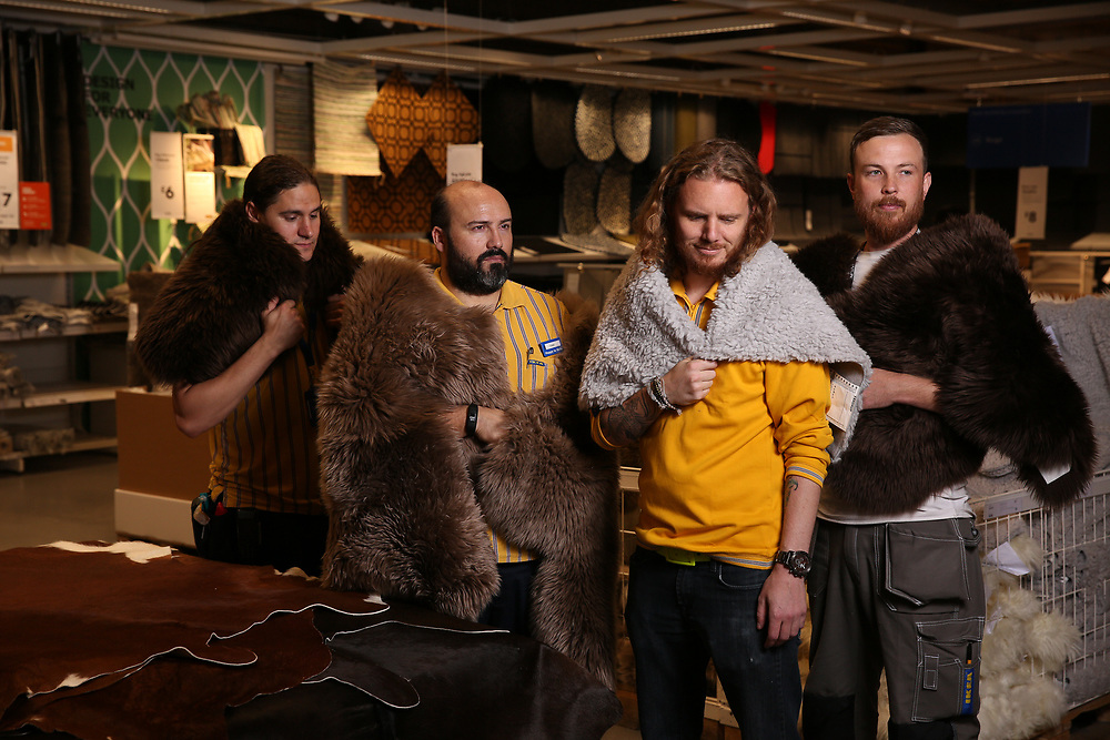 Today it has been revealed that the IKEA LUDDE Sheepskin rug has been used in the popular Game of Thrones series to protect the Night's Watch against the chills of the North.<br /> <br /> To celebrate, IKEA&rsquo;s Co-workers showed us how to get the Night's Watch look as they modelled IKEA's rug collection in the Wembley store.<br /> <br /> Carol McSeveney, Textiles Sales Leader, IKEA UK &amp; Ireland said: &ldquo;We are flattered that our rugs are featured in Game of Thrones. We know these rugs are warm and cosy but we hadn&rsquo;t envisioned them becoming a fashion accessory. Seeing them worn by Jon Snow and his brothers in the Night's Watch has inspired us to display them off the floor. Why drape them across your favourite armchair when they look just as good on your shoulders&rdquo;?