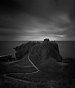 An iconic view - a famous landmark on the coast, south of Stonehaven, looking out over the North Sea.
