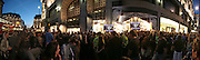 Stitched panoramic photograph.  Launch of the Kate Moss collection. Top Shop. Oxford St. London. 30 April 2007.   -DO NOT ARCHIVE-© Copyright Photograph by Dafydd Jones. 248 Clapham Rd. London SW9 0PZ. Tel 0207 820 0771. www.dafjones.com.