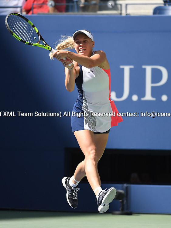September 4, 2016<br /> Caroline Wozniacki (DEN) in action during the US Open, at the Billie Jean King Tennis Center, Flushing Meadow, NY