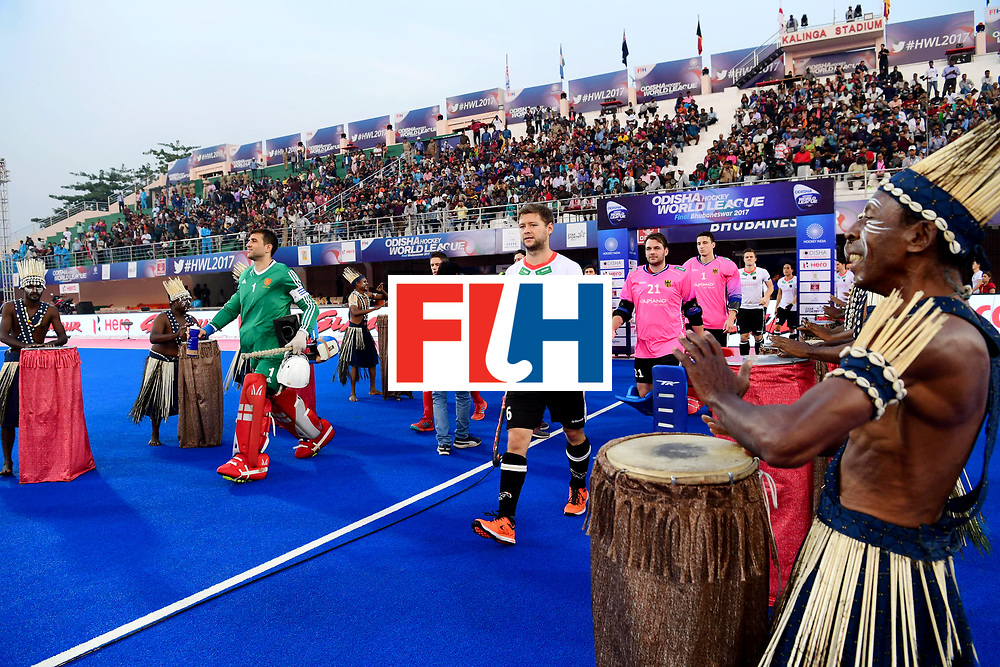 Odisha Men's Hockey World League Final Bhubaneswar 2017<br /> Match id:01<br /> Germany v England<br /> Foto: Playerson the pitch, with Martin Haener.<br /> WORLDSPORTPICS COPYRIGHT FRANK UIJLENBROEK