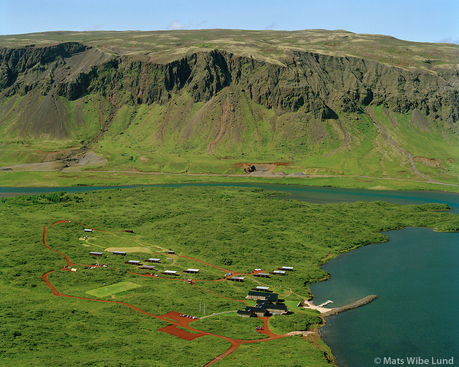 Landsbankin orlofshúsasvæði við Álftavatn séð til vesturs, Grímsnes- og Grafningshreppur / Landsbankin holiday homes at lake Alftavatn viewing west. Grimsnes- og Grafningshreppur