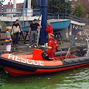 Terwaterlating nieuwe boot redding Hoge Huizen