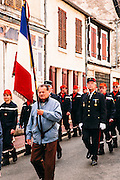 Parade for La Fête Nationale  (Bastille Day) in Chatillon-sur-Loire, Canal latéral à la Loire