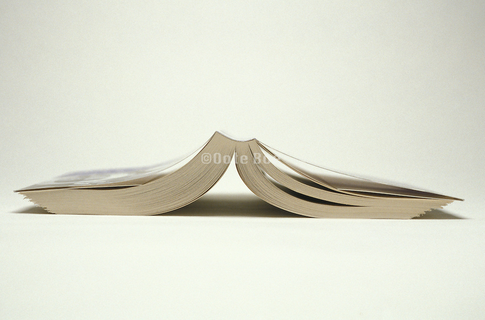Opened book face down