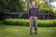 Pulitzer Prize winning poet James Tate outside his home in Pelham, Massachusetts on May 26, 2011. Ann Hermes/© The Christian Science Monitor 2014