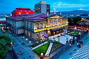 National Theater is considered the finest historical building in San Jose.  Situated in the Plaza of Culture, the theater opened in 1897 and was based on the architecture of the Paris Opera House.