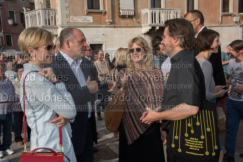 VICTOR PINCHUK; OLENA PINCHUK, Marianne Krogh Jensen, OLAFUR ELIASSON, OPENING OF THE UKRANIAN PAVILION, Venice Biennale, Venice. 7 May 2015