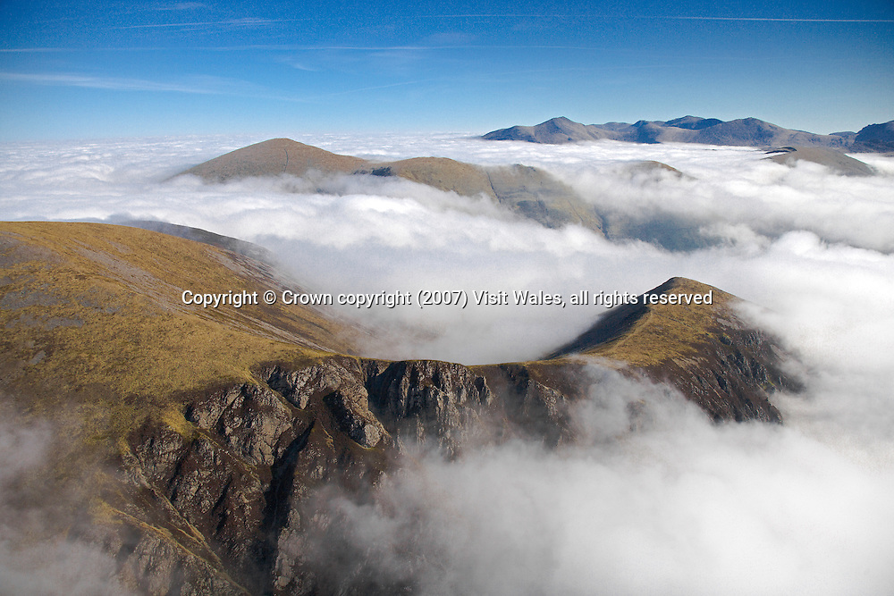 View over Llanberis Pass to Elidir Fawr and Carneddau<br />