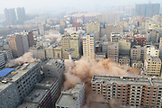 ZHENGZHOU, CHINA - JANUARY 23:<br /> <br /> Biggest Village In Zhengzhou City Blasted<br /> <br />  The biggest village in the city is blasted on January 23, 2017 in Zhengzhou, Henan Province of China. The biggest village with a total area of about 2.3 million square meters in Zhengzhou city was blasted on Monday. <br /> ©Exclusivepix Media