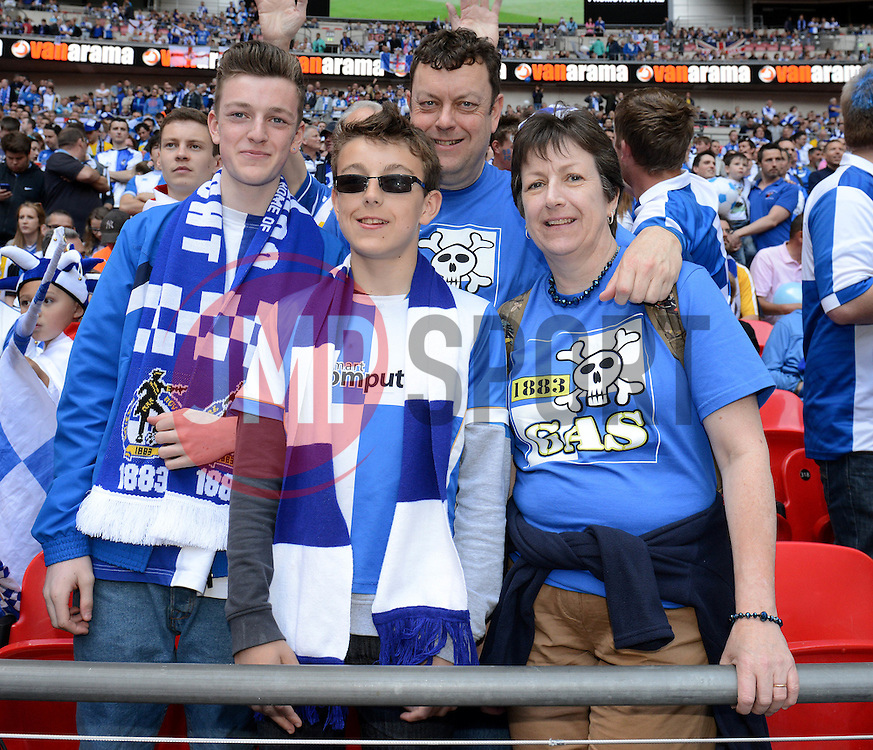 Bristol Rovers fans - Photo mandatory by-line: Dougie Allward/JMP - Mobile: 07966 386802 - 17/05/2015 - SPORT - football - London - Wembley Stadium - Bristol Rovers v Grimsby Town - Vanarama Conference Football