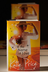 "© licensed to London News Pictures. London, UK 21/06/2012. Katie Price's new novel ""In The Name of Love"" being launched in the Worx Studios, south-west London, today. Photo credit: Tolga Akmen/LNP"