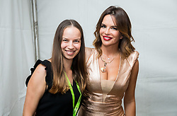 Branka Grbin and Croatian singer Severina Vuckovic in backstage during Music concert in Portoroz, on July 22, 2017 at Plaza Portoroz, Slovenia. Photo by Vid Ponikvar / Sportida