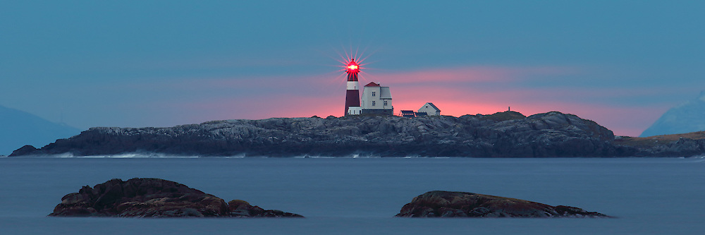 A lighthouse on west coast of Norway | Grasøyane fyrlykt.