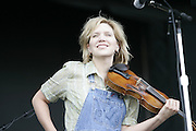 Manchester, TN, June 11, 2005; Alison Krauss & Union Station, featuring Dan Tyminski, Jerry Douglas, Ron Block, and Barry Bales performs during The Bonnaroo 2005 Arts and Music Festival. Mandatory Credit: Photo by Bryan Rinnert/3 Sight Photography. (©) Copyright 2005 by Bryan Rinnert