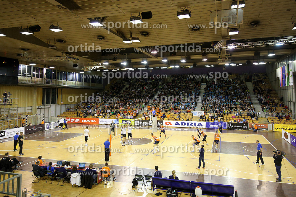 View on arena during volleyball match between OK ACH Volley Ljubljana and Calcit Volleyball Kamnik in Final of 1. DOL Slovenian Men National Championship 2016/17, on April 27, 2017 in Arena Tivoli, Ljubljana, Slovenia. Photo by Matic Klansek Velej / Sportida