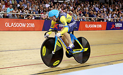 Ukraine's Olena Starikova competes in the Women's 500m Time Trial Final during day five of the 2018 European Championships at the Sir Chris Hoy Velodrome, Glasgow.