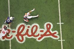 Dec 31, 2014; Atlanta , GA, USA; <br /> in the 2014 Peach Bowl at the Georgia Dome. Mandatory Credit: Kevin Liles/CFA Peach Bowl via USA TODAY Sports