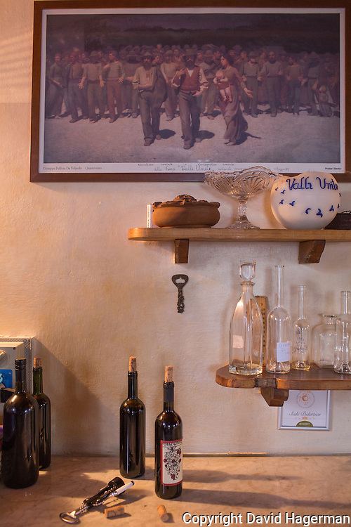 In the dining room of Valle Unite  'The Fourth Estate' is a famous  painting by Giuseppe Pellizza , native of Volpedo (near Valli Unite), originally<br /> titled The Path of Workers