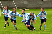 Salthill Devon Celebrate their 2nd goal in Fahy's Field, Galway. Photo:Andrew Downes