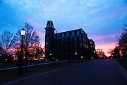 FAYETTEVILLE, ARKANSAS:  photography around Fayetteville Arkansas of the University of Arkansas, Old Main on the Campus of the U of A and the Lights of the Ozarks display on the Square in downtown Fayetteville.