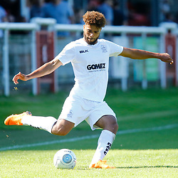 Dovers defender Josh Passley during the National League match between Dover Athletic and Barnet FC at Crabble Stadium, Kent on 1 September 2018. Photo by Matt Bristow.