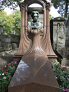 Grave of novelist and critic Emile Zola (1840-1902) Cimetiere Montmartre Paris
