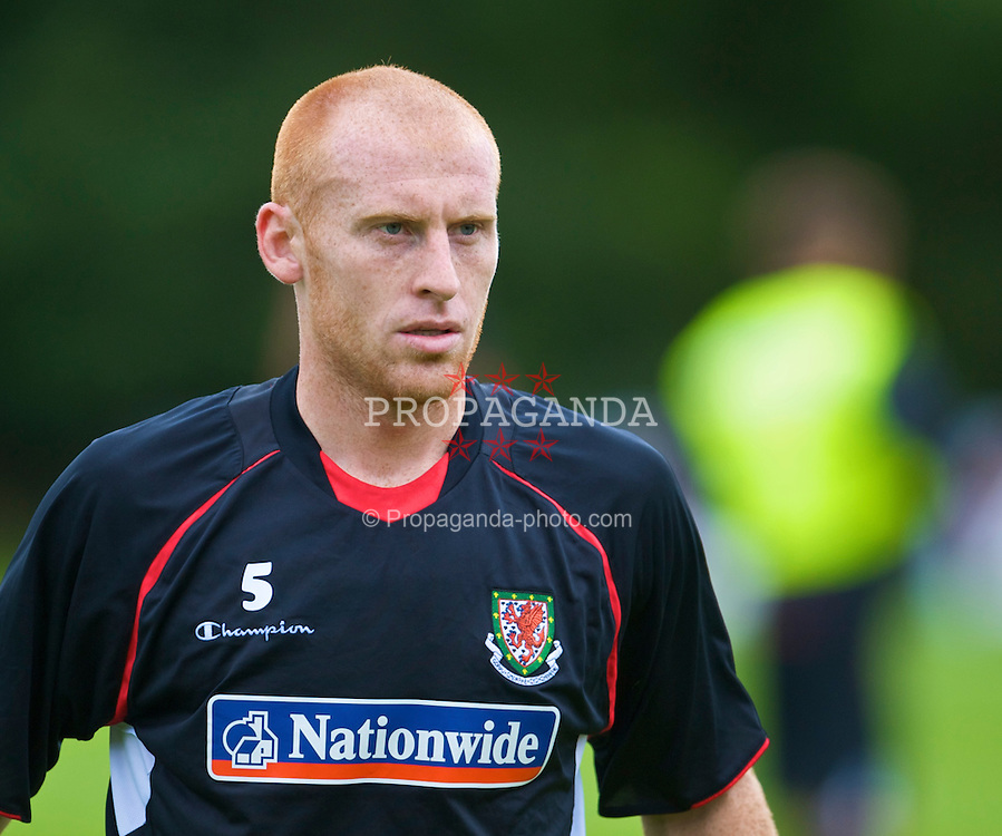 CARDIFF, WALES - Tuesday, September 8, 2009: Wales' James Collins training at the Vale of Glamorgan Hotel ahead of the FIFA World Cup Qualifying Group 3 match against Russia. (Pic by David Rawcliffe/Propaganda)