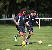 Dundee new boys Yordi Teijsse and Danny Williams  -  Dundee FC pre-season training at Dundee University Grounds, Riverside<br /> <br />  - &copy; David Young - www.davidyoungphoto.co.uk - email: davidyoungphoto@gmail.com