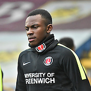 Charlton Athletic Midfielder,  Regan Charles-Cook  during the Sky Bet Championship match between Burnley and Charlton Athletic at Turf Moor, Burnley, England on 19 December 2015. Photo by Mark Pollitt.