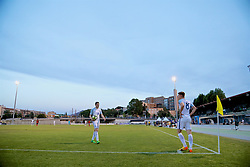 AUBAGNE, FRANCE - Monday, May 29, 2017: England's Elliott Embleton and Harvey Barnes during the Toulon Tournament Group A match between England U18 and Angola U20 at the Stade de Lattre-de-Tassigny. (Pic by David Rawcliffe/Propaganda)