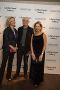 NADJA SWAROVSKI, RICHARD LONG, IWONA BLAZWICK at the Whitechapel Gallery Art Icon 2015 Gala dinner supported by the Swarovski Foundation. The Banking Hall, Cornhill, London. 19 March 2015