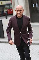 Ben Kingsley Sporting Royal Crest on Jacket Pictured Leaving BBC London 2 may 2016<br /> Byline Jack Ludlam