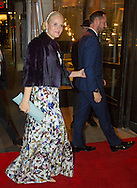 Oslo, 10-12-2016  <br /> <br /> King Harald and Queen Sonja, Crown Prince Haakon and Crown Princess Mette Marit of Norway  attend the Nobel Peace Prize Banquet at the Grand Hotel with Nobel Peace Prize winner President Juan Manuel Santos of Columbia.<br /> <br /> Arrival Royal Family<br /> <br /> <br /> COPYRIGHT ROYALPORTRAITS EUROPE/ BERNARD RUEBSAMEN