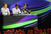 September 18-21, 2014 : Singapore Formula One Grand Prix - Daniel Ricciardo (AUS), Red Bull-Renault, Nico Rosberg  (GER), Mercedes Petronas, Lewis Hamilton (GBR), Mercedes Petronas