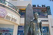 Surf Statue Duke Kahanamoku at Main Street and PCH in Huntington Beach