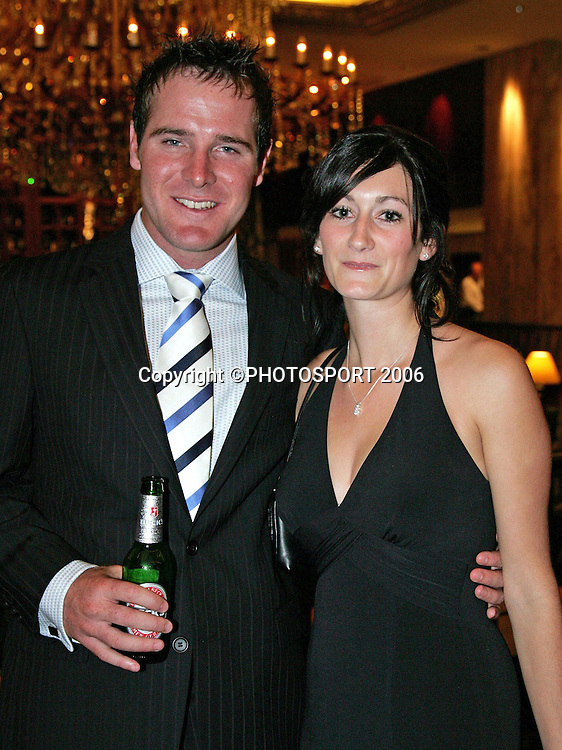 during the New Zealand Cricket Awards held at Langham Hotel, Auckland, on Thursday 30 March, 2006. Photo: Andrew Cornaga/PHOTOSPORT