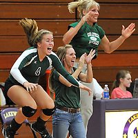 9.6.2012 Elyria Catholic at Lakewood Varsity Volleyball