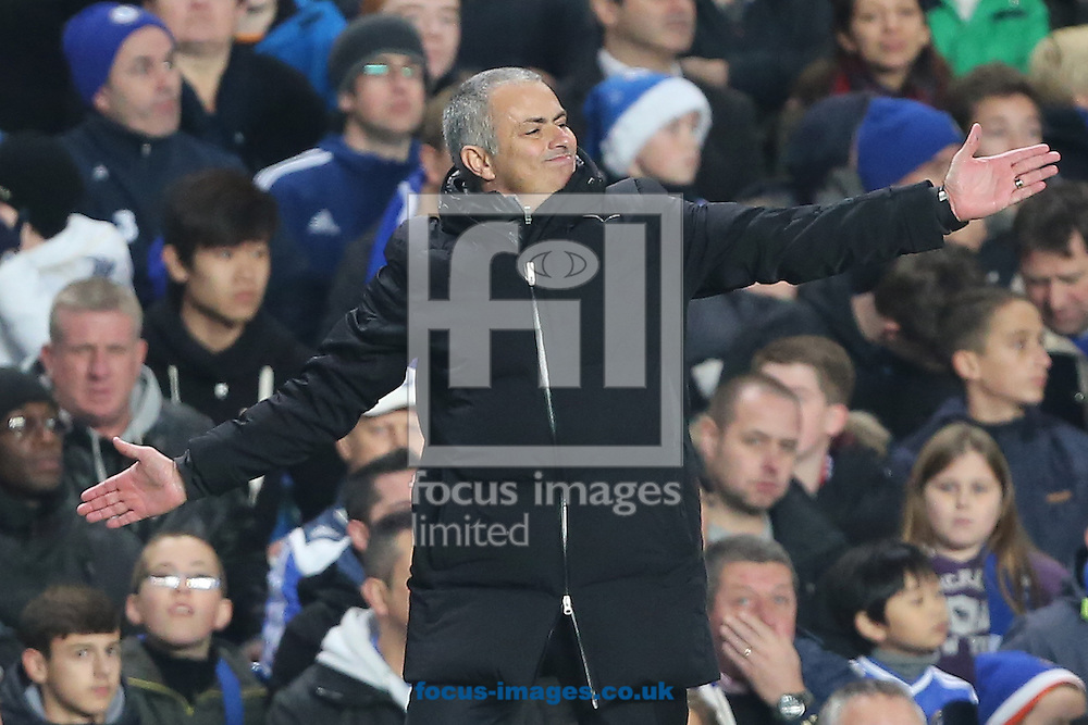 Picture by Richard Calver/Focus Images Ltd +447792 981244<br /> 01/12/2013<br /> Manager of Chelsea, Jose Mourinho during the Barclays Premier League match against Southampton at Stamford Bridge, London.