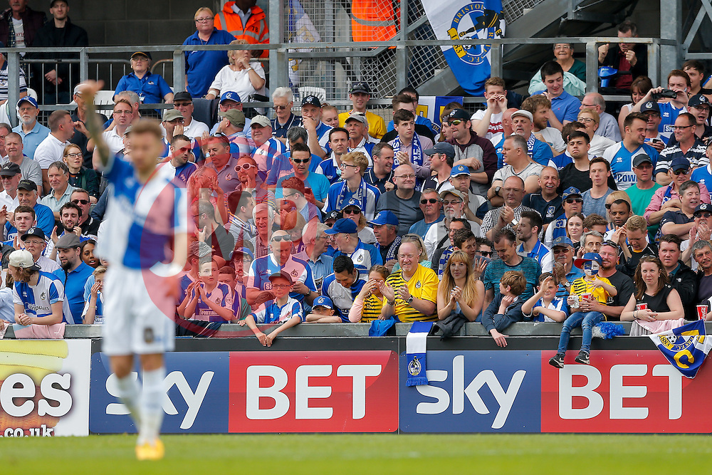 SKY BET PICTURES – FREE TO USE Bristol Rovers fans celebrate after Billy Bodin scores a goal to make it 1-1 - Mandatory byline: Rogan Thomson/JMP - 08/03/2016 - FOOTBALL - Memorial Stadium - Bristol, England - Bristol Rovers v Dagenham & Redbridge - Sky Bet League 2.
