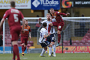 Bradford City forward Jamie Proctor (19) battles with Millwall FC defender Byron Webster (17)  during the Sky Bet League 1 match between Bradford City and Millwall at the Coral Windows Stadium, Bradford, England on 26 March 2016. Photo by Simon Davies.