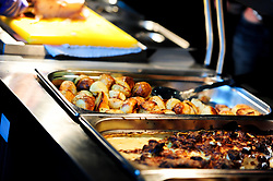 Hospitality food prior to kick off - Mandatory by-line: Ryan Hiscott/JMP - 14/04/2019 - RUGBY - Sandy Park - Exeter, England - Exeter Chiefs v Wasps - Gallagher Premiership Rugby