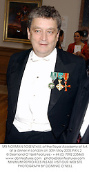 MR NORMAN ROSENTHAL of the Royal Academy of Art, at a dinner in London on 30th May 2002.	PAN 2