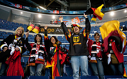Fans of Germany after the ice-hockey match between Slovakia and Germany of Group A of IIHF 2011 World Championship Slovakia, on May 1, 2011 in Orange Arena, Bratislava, Slovakia. Germany defeated Slovakia 4-3. (Photo By Vid Ponikvar / Sportida.com)
