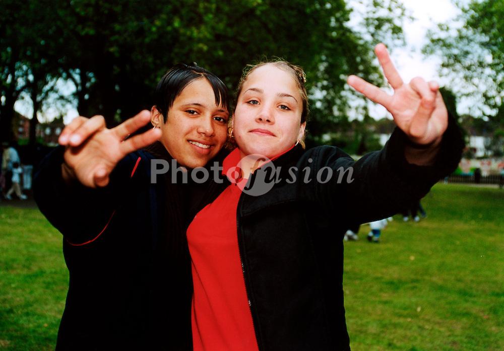 Two teenage female friends UK