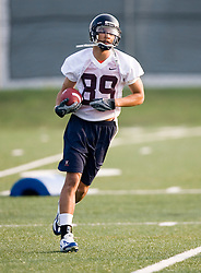 Chris Dalton (89)..The 2007 Virginia Cavaliers football team opened fall practice on August 6, 2007 at the University of Virginia football practice fields near the McCue Center in Charlottesville, VA.