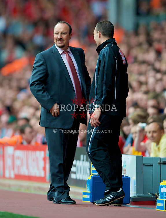 LIVERPOOL, ENGLAND - Saturday, August 23, 2008: Liverpool's manager Rafael Benitez during the Premiership match against  Middlesbrough at Anfield. (Photo by David Rawcliffe/Propaganda)