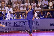 DESCRIZIONE : Campionato 2014/15 Serie A Beko Grissin Bon Reggio Emilia - Dinamo Banco di Sardegna Sassari Finale Playoff Gara7 Scudetto<br /> GIOCATORE : Romeo Sacchetti<br /> CATEGORIA : delusione allenatore<br /> SQUADRA : Banco di Sardegna Sassari<br /> EVENTO : Campionato Lega A 2014-2015<br /> GARA : Grissin Bon Reggio Emilia - Dinamo Banco di Sardegna Sassari Finale Playoff Gara7 Scudetto<br /> DATA : 26/06/2015<br /> SPORT : Pallacanestro<br /> AUTORE : Agenzia Ciamillo-Castoria/GiulioCiamillo<br /> GALLERIA : Lega Basket A 2014-2015<br /> FOTONOTIZIA : Grissin Bon Reggio Emilia - Dinamo Banco di Sardegna Sassari Finale Playoff Gara7 Scudetto<br /> PREDEFINITA :