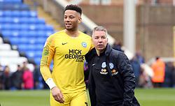Peterborough United Manager Darren Ferguson with Aaron Chapman at full-time - Mandatory by-line: Joe Dent/JMP - 06/04/2019 - FOOTBALL - ABAX Stadium - Peterborough, England - Peterborough United v Gillingham - Sky Bet League One