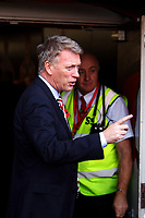 Football - 2016 / 2017 Premier League - AFC Bournemouth vs. Sunderland<br /> <br /> Man under pressure, Sunderland Manager David Moyes has choice words with photographers before signing autographs for waiting mascots at Dean Court (The Vitality Stadium) Bournemouth<br /> <br /> COLORSPORT/SHAUN BOGGUST